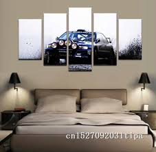 Subaru Leopard Wrx Sti 5 Panel Abstract Wall Art Oil Painting Poster Canvas Painting Print Pictures For Living Room Home Decor Painting Calligraphy Aliexpress