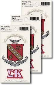 Sigma Kappa Decals Sorority Crest