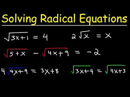 solving radical equations you