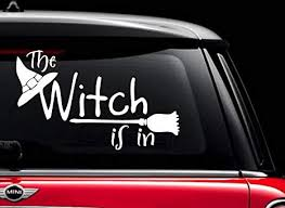 Amazon Com Halloween Witch Ghost White 5 Vinyl Decal Sticker For Car Automobile Window Wall Laptop Notebook Etc Any Smooth Surface Such As Windows Bumpers Everything Else