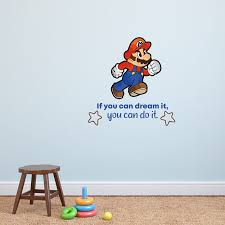 Design With Vinyl Do It Super Mario Game Life Quote Cartoon Quotes Wall Sticker Art Design Decal For Girls Boys Kids Room Home Decor Wall Art Vinyl 10x10 Inch Wayfair