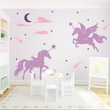 Magical Unicorns Wall Decal Unicorn Wall Decal Unicorn Room Decor Unicorn Bedroom