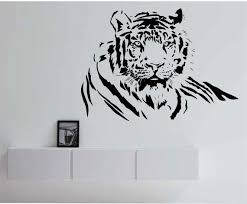Tiger Wall Decal Vinyl Sticker Art Decor Bedroom Design Mural Etsy Tiger Wall Art Tiger Wall Decor Vinyl Wall Decals