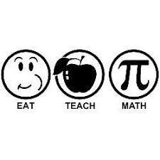 Eat Teach Math Vinyl Car Laptop Window Wall Decal Mymonkeysticker Com