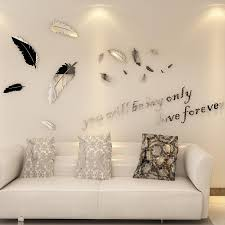 New Diy Feather Mirror Wall Stickers Large Size Decals Home Living Room Bedroom Decoration Bathroom Acrylic Wall Sticker Mural Y200103 Train Wall Stickers Tree Decals From Shanye10 9 23 Dhgate Com