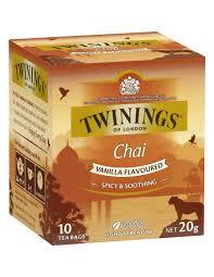 twinings vanilla chai tea 10 pack