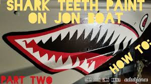 How To Shark Teeth Paint On Jon Boat Part Two Youtube