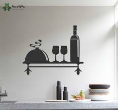 Kitchen Wall Decal Shelf Pattern Vinyl Wall Stickers Art Mural Wine Theme Decal Glass Home Self Removable Modern Adhesive Decals Decals For Bedroom Walls From Onlinegame 12 48 Dhgate Com