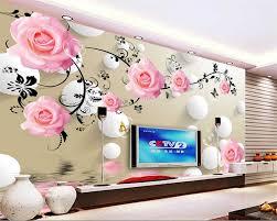 Beibehang خلفيات الورود انعكاسات 3d دوائر التلفزيون الخلفيات