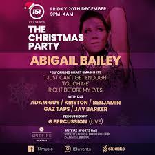 151 Christmas Party - Abigail Bailey LIVE Tickets | Spitfire Sports Bar  Darwen | Fri 20th December 2019 Lineup