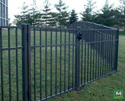 The Asbury Aluminum 3 Rail Fence Panel Is An Easy To Install Fence Panel That Is 4 6 High X 6 Wide Constructed Of Quality Fence Panels Fence Aluminum Fence