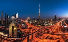 تحميل خلفيات الإمارات العربية المتحدة دبي ليلة برج خليفة