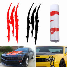 Universal Red Black Scratch Stripe Headlight Car Truck Suv Vinyl Decal Sticker 40 X 12cm Vinyl Decals Stickers Decal Stickercar Decal Sticker Aliexpress