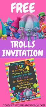 Free Trolls Digital Invitation Impresiones De La Fiesta Fiesta