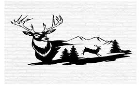 White Tail Deer Wall Decal Hunting Buck Man Cave Animal Rustic Cabin L