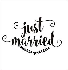 Just Married Decal Wedding Vinyl Decal Rustic Handwritten Just Just Married Car Just Married Just Married Sign