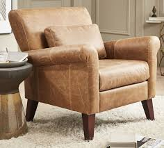 brown leather armchair recliner