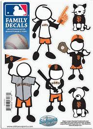 Amazon Com Mlb San Francisco Giants Small Family Decal Set Sports Fan Decals Sports Outdoors