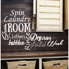 Shop Laundry Decal Wall Quotes Bubbles Clothers Dry Spin Rince Fold Iron Vinyl Sticker Wash Room Bathroom Overstock 11179287