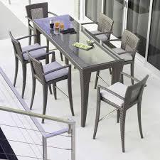 rectangular garden high bar table