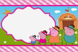 Peppa Pig En La Granja Invitaciones Para Imprimir Gratis