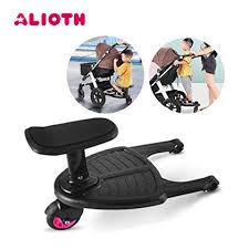 Baby Stroller Pedal Adapter Hanging Trailer Scooter Standing Plate Children  Hitchhiker Sitting Seat for 3 7 Years Old 2nd Kids|