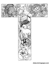 Animal Alphabet Letters To Print Alfabet Kleurplaten Adult