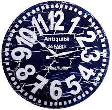 large wall clock 30 inch navy blue