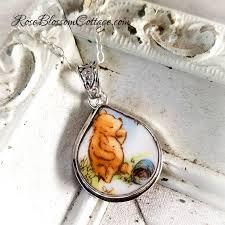 pooh eating honey teardrop broken china