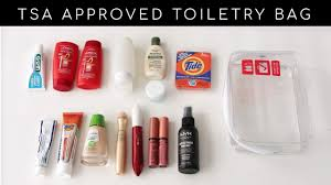 how to pack toiletries makeup and meds