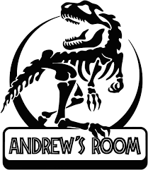 Amazon Com Personalized Jurassic Park Inspired Wall Decal Custom Boy Room Door Sign Dinosaur Nursery Decor Vinyl Sticker Kids Name Print Boys Wall Art Made In Usa Fast Delivery Home Kitchen