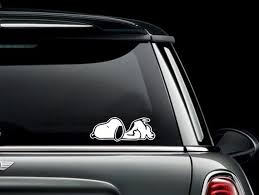 Snoopy Laying On Stomach Sleeping Custom Car Truck Van Window Etsy