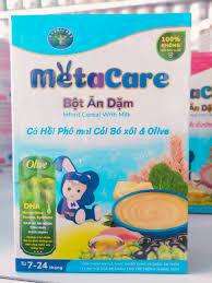 Bột ăn dặm Metacare Cá Hồi Phô mai Cải Bó xôi & Olive 200g – Sữa Tốt
