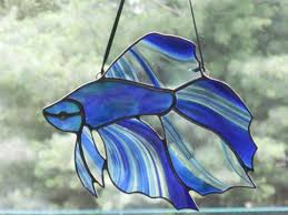 stunning betta fish stained glass with