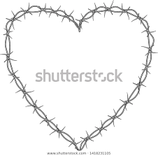 Heart Barbed Wire Heart Tattoo Stock Illustration 1418231105