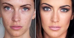 makeup application to look older