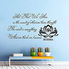 wall decals quotes buddha quote all that we are buddha quote yoga