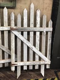 White Picket Fence Gate Uniquely Primitive