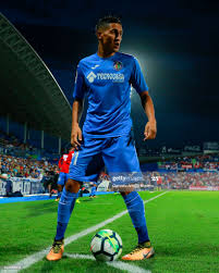Faycal Fajr of Getafe CF controls the ball during the La Liga match... News  Photo - Getty Images