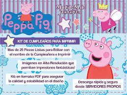 Peppa Pig Mini Kit De Cumpleanos Para Imprimir Descarga Gratis