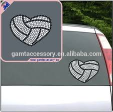 Custom Volleyball Heart Bling Rhinestone Car Decals Buy Custom Bling Decals Volleyball Rhinestone Decals Bling Car Decals Product On Alibaba Com