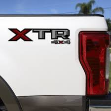 Set Of 2 Xtr 4x4 Vinyl Decal For 2017 2019 Ford F 150 F 250 Pickup Tr Us Rallystripes