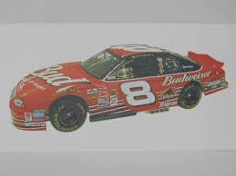 Allstar 0108 Dale Earnhardt Jr 8 Budweiser 2001 Chevrolet Monte Carlo Model Car Decal