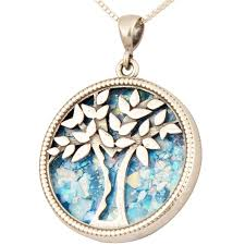roman glass tree of life pendant