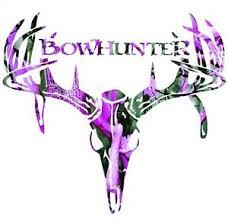 1 Pink Muddy Camo Bow Hunter Buck Deer Skull Vinyl Window Decal Sticker W 7 Ebay