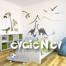 Dinosaurs Wall Decals Family By The Lake Scene Wall Decals Etsy Dinosaur Wall Decals Kids Wall Decals Dinosaur Wall Stickers