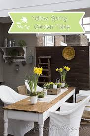 garden decorating for spring with