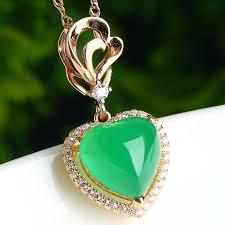 whole ice jade jade pendant heart