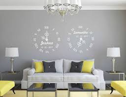 Personalized Name Date Of Birth Clock Vinyl Wall Sticker Wall Art Transfer Decal Sticker Self Adhesive Poster Wd09 Wall Stickers Aliexpress