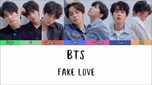 bts fake love lyrics han rom indo lirik terjemahan